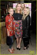 Mary-Kate, Ashley & Elizabeth Olsen - Nylon and AX Armani Exchange private dinner in NYC, October 5, 2011 *Adds*