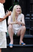 "*HQ ADDS* Dakota Fanning & Elizabeth Olsen on the Set of ""Very Good Girls"" in Tribeca 07/18/12"
