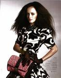 Alexis Bledel leggy with black fishnets in WWD Magazine (Fall 2009) - Hot Celebs Home